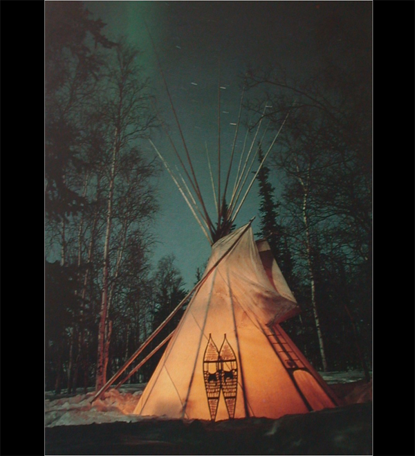 Canadian Canvas Tipi in Northern Lights