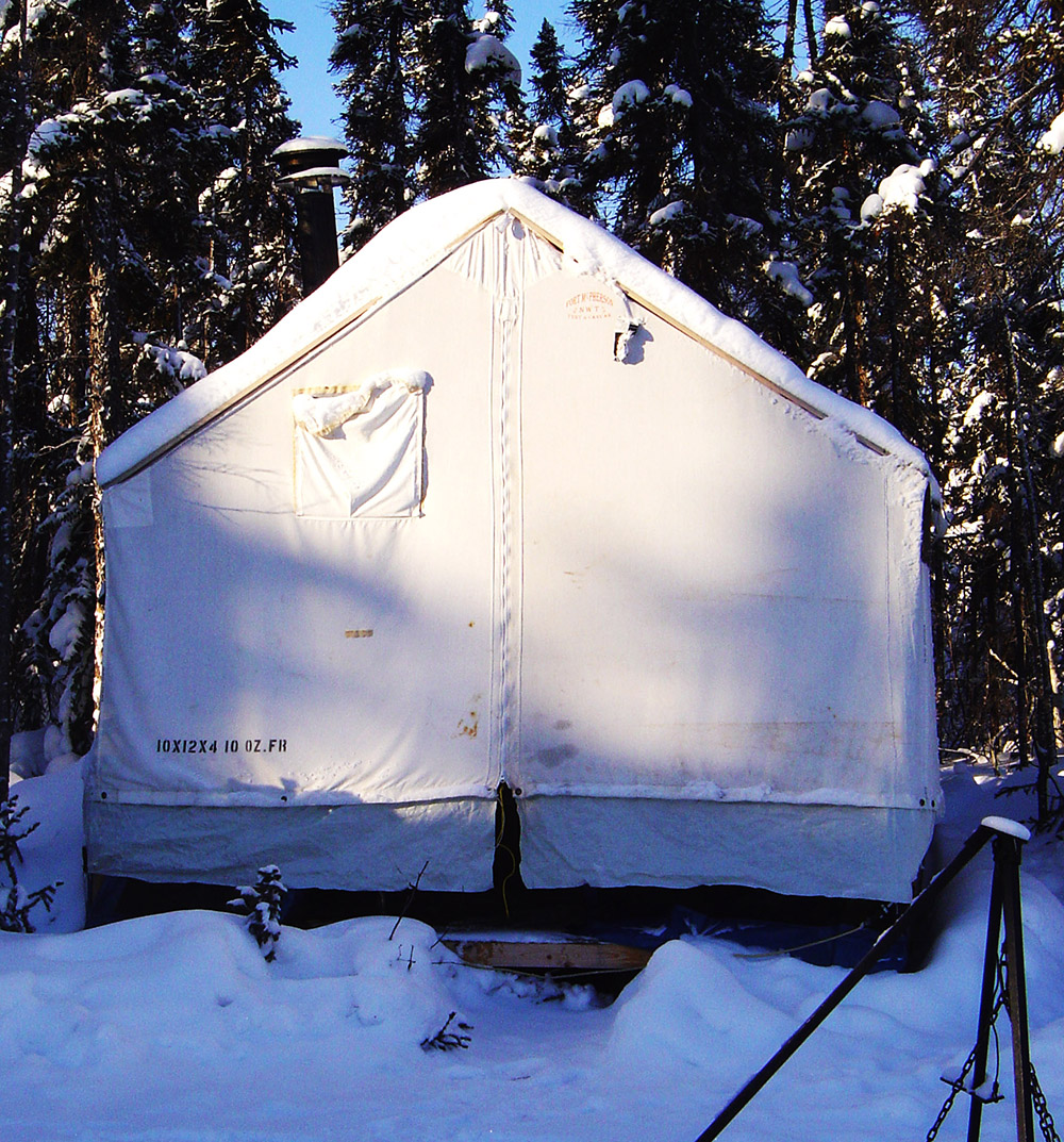 Fort McPherson Tent in the Winter Snow